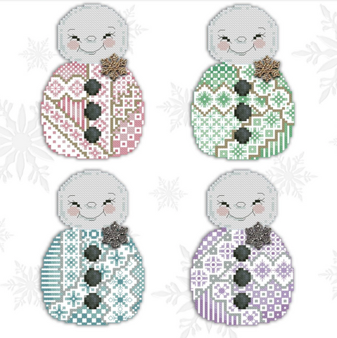 Kitty And Me Designs ~ Crazy Snowmen (4 designs!)