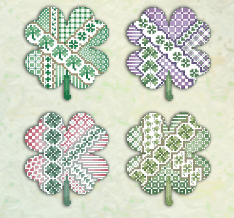 Kitty And Me Designs ~ Crazy Shamrocks (4 designs!)