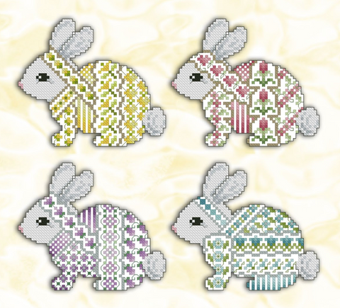 Kitty And Me Designs ~ Crazy Bunnies (4 designs!)