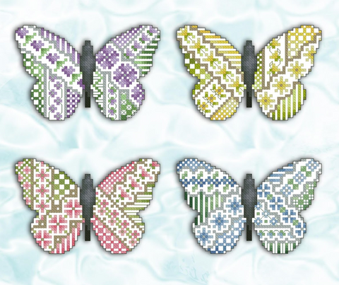 Kitty And Me Designs ~ Crazy Butterflies (4 designs!)