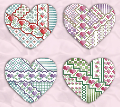 Kitty And Me Designs ~ Crazy Valentines 2 (4 designs!)