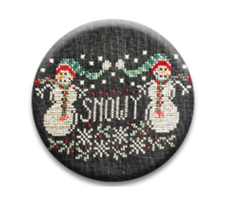 Hands On Design  ~ Chalk Full Snowy Twins Needle Nanny (Limited # In-stock!)