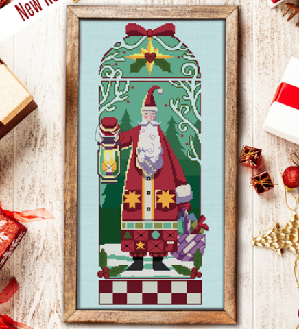Autumn Lane Stitchery ~ Woodland Santa