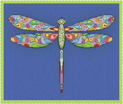 Alessandra Adelaide Needleworks ~ Happy Dragonfly