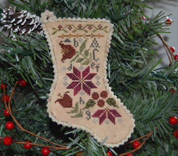 Abby Rose Designs ~ Sampler Stocking Ornament