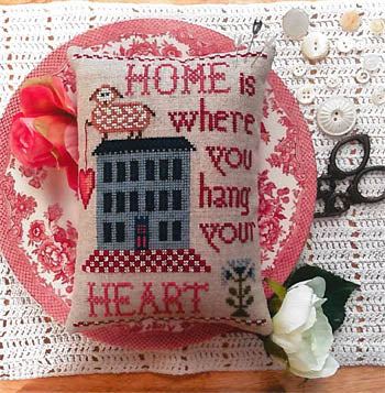 Annie Beez Folkart ~ Home Is Where You Hang Your Heart