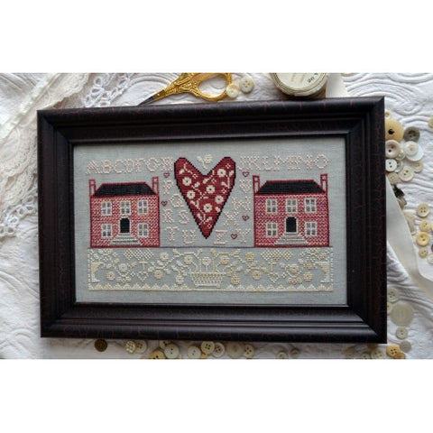 Annie Beez Folkart ~ Little Pink Houses