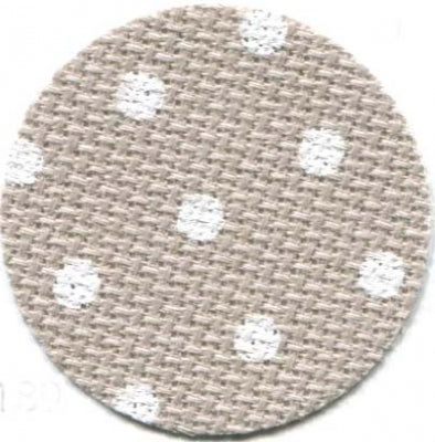 20ct Aida ~ Beige/White Petit Point ~ Fat 1/4