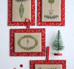 Annalee Waite Designs ~ Little Christmas Ornaments