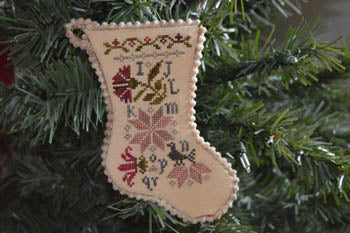 Abby Rose Designs ~ Sampler Stocking Ornament 2