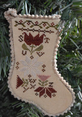 Abby Rose Designs ~ Sampler Stocking Ornament 3
