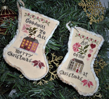 Abby Rose Designs ~ Sampler Stockings 2018