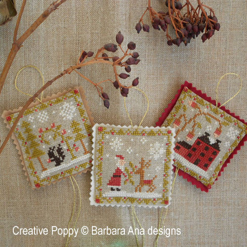 Barbara Ana Designs ~ Christmas Ornament Trio