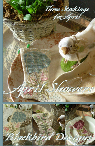 Blackbird Designs ~ Three Stockings ~ April Showers