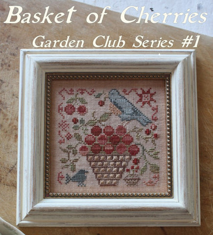 Blackbird Designs ~ Garden Club ~ Basket Of Cherries