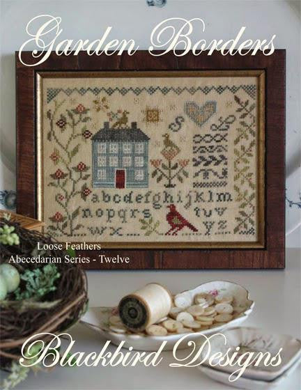 Blackbird Designs ~ Loose Feathers Abecedarian Series ~ Garden Borders