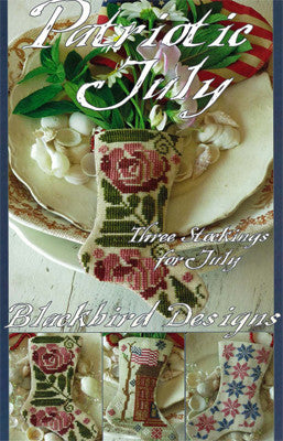 Blackbird Designs ~ Three Stockings ~ Patriotic July