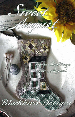 Blackbird Designs ~ Three Stockings ~ Sweet August