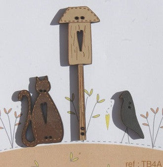 The Bee Company ~ Cat, Crow & Birdhouse