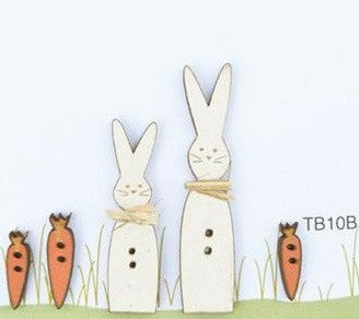 The Bee Company ~ Easter Bunnies & Carrot Buttons