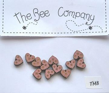 The Bee Company ~ Mini Pink Hearts