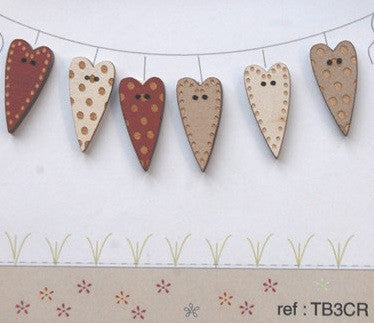 The Bee Company ~ Assorted Hearts/Red