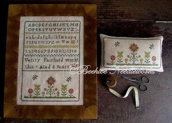 Beehive Needleworks ~ Verity Fairfield Sampler & Pin Pillow