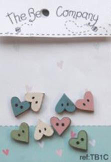 The Bee Company ~ Mini Assorted Hearts (Pink)