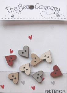 The Bee Company ~ Mini Assorted Hearts (Red)