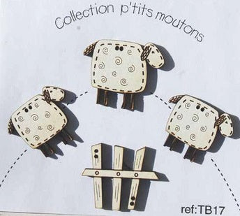 The Bee Company ~ Sheep Buttons