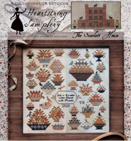 Heartstring Samplery and Scarlett House ~ Berry Bowl Sampler