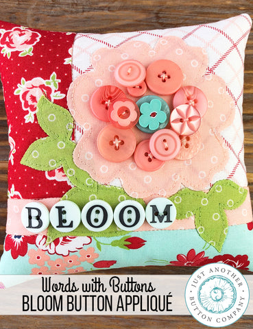 JABC ~ Button Lover's Club: July Words With Buttons Monthly Box Bloom **(Very limited # available!)