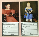 Kathy Barrick ~ Needlework Labels ~ Cats in Early Folk Art
