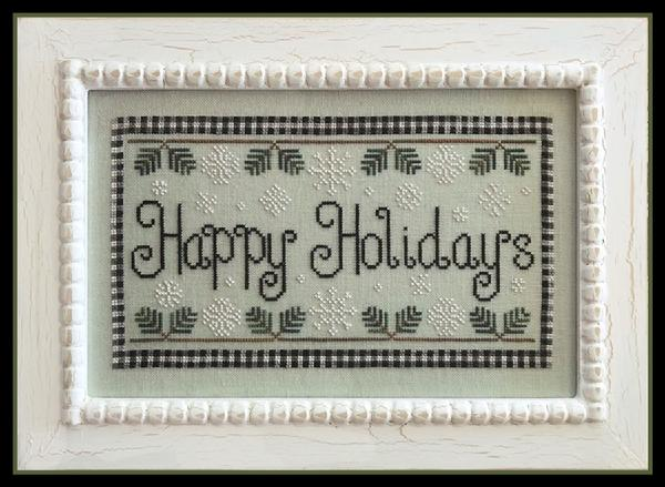 Country Cottage Needleworks ~ Happy Holidays w/floss
