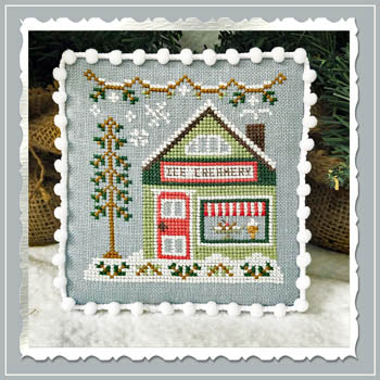 Country Cottage Needleworks ~ Snow Village 9 - Ice Creamery