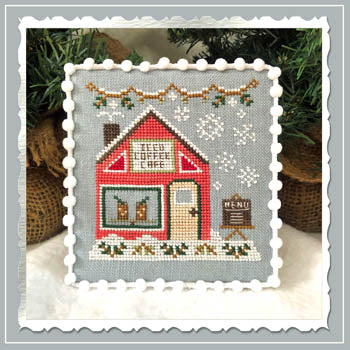 Country Cottage Needleworks ~ Snow Village 10 - Iced Coffee Cafe