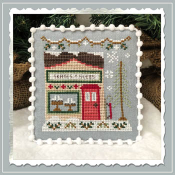 Country Cottage Needleworks ~ Snow Village 2 - Skate & Sled Shop