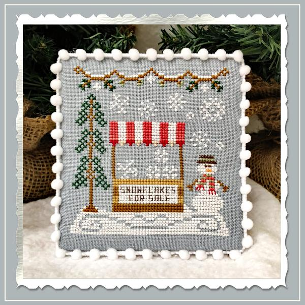 Country Cottage Needleworks ~ Snow Village 3 - Snowflake Stand