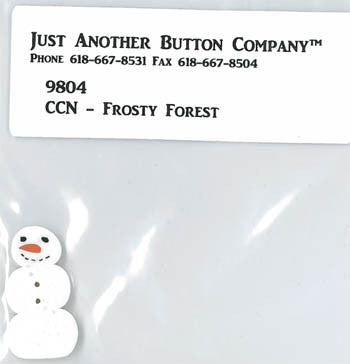 Country Cottage ~ Frosty Forest JABC Snowman Button
