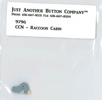 Country Cottage ~ Raccoon Cabin JABC Blue Bird Button