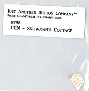 Country Cottage ~ Snowman's Cottage JABC White Bird Button