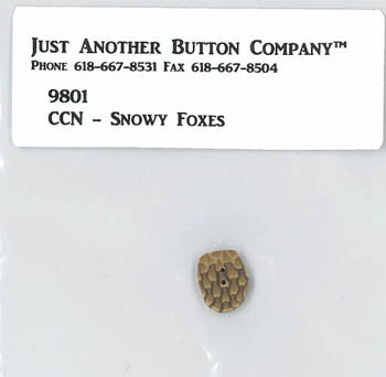 Country Cottage ~ Snowy Foxes JABC Pinecone Button