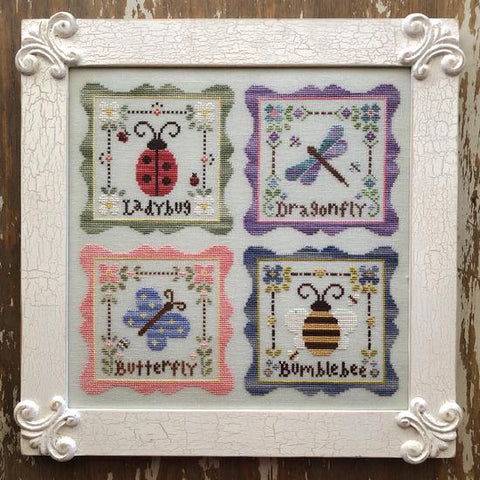 Country Cottage Needleworks ~ Garden Party Chart Pack