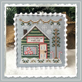 Country Cottage Needleworks ~ Snow Village 4 - Peppermint Parlor
