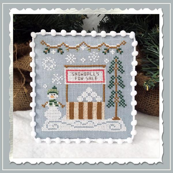 Country Cottage Needleworks ~ Snow Village 8 - Snowball Stand