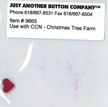 Country Cottage ~ Christmas Tree Farm JABC Heart Button