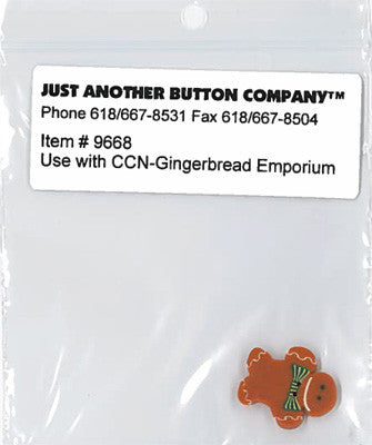 Country Cottage ~ Gingerbread Emporium JABC GB Button