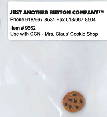 Country Cottage ~ Mrs. Claus Cookie Shop JABC Cookie Button