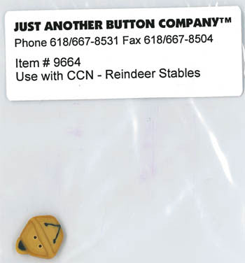 Country Cottage ~ Reindeer Stables JABC Jingle Bell Button
