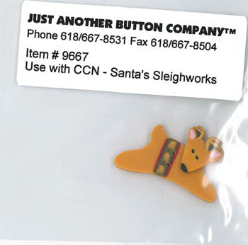 Country Cottage ~ Santa's Sleighworks JABC Reindeer Button